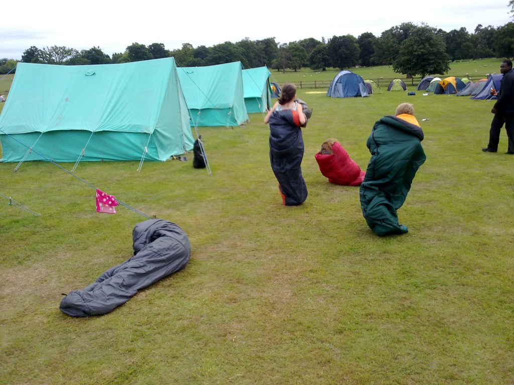 Sleeping bag race