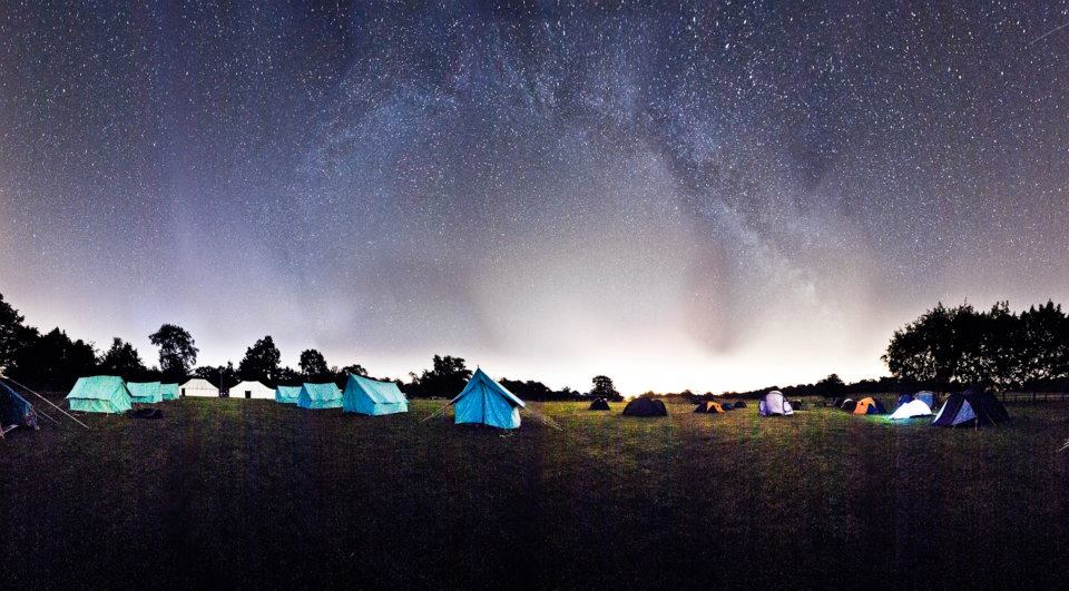 Panorama of Camp 2011 by night