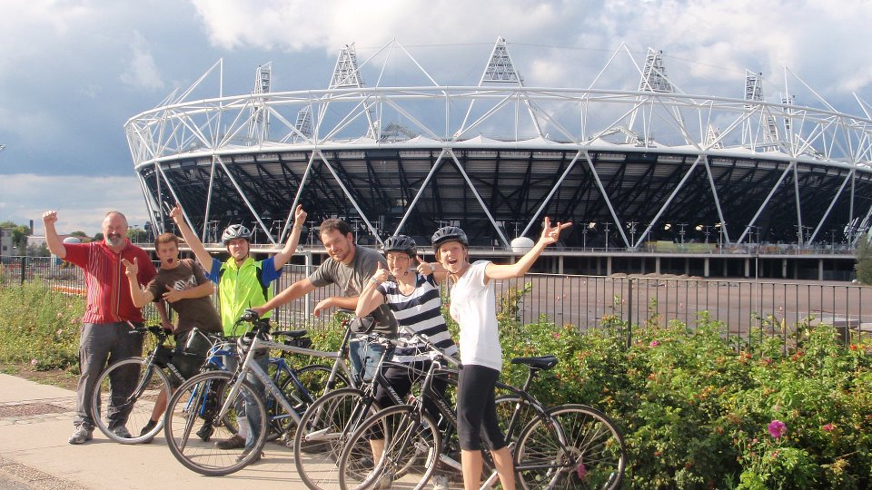 Outside the London Olympic stadium